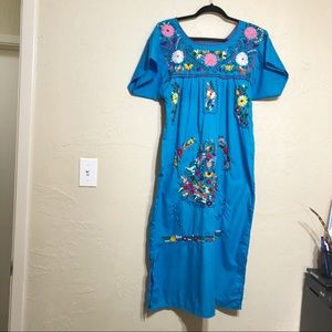 Mexican Embroidered Dress S